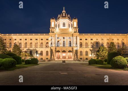 Vienna, Austria, Europe.The Maria Theresa square with the Art History Museum on the Maria Theresa square - Stock Photo