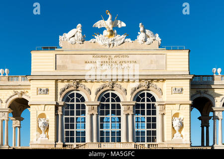 Vienna, Austria, Europe. The Gloriette in the gardens of Schönbrunn Palace