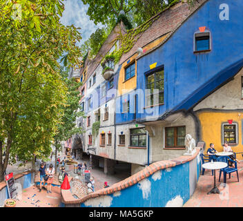 Vienna, Austria, Europe. The Hundertwasser House - Stock Photo