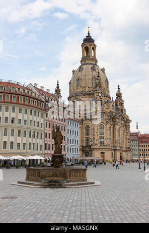 The Frauenkirche of Dresden, Saxony, Germany - Stock Photo