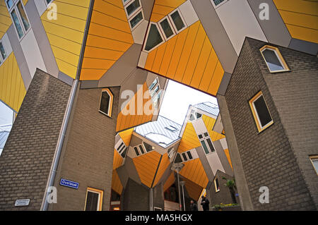 Cube Houses in Rotterdam - Stock Photo