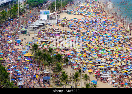 The Simpatia e Quase Amor street troupe at Rio carnival 2018, Brazil - Stock Photo