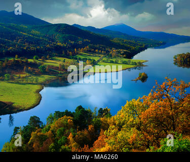 GB - SCOTLAND:  Loch Tummel from Queen's View in Tayside - Stock Photo