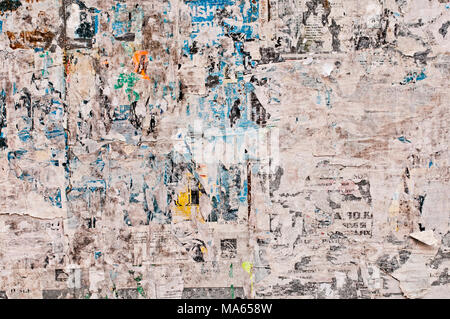 abstract background of stripped away paper billboard - Stock Photo