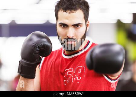 The Boxing Man - Stock Photo