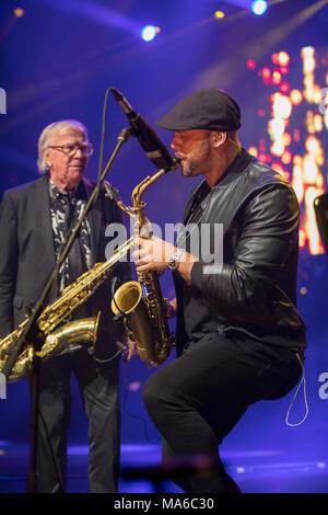 Cannes, France - June 07, 2017: Mandoki Soulmates Concert Tour honored in the Palais des Festivals at Cannes MIDEM 2017 - Stock Photo
