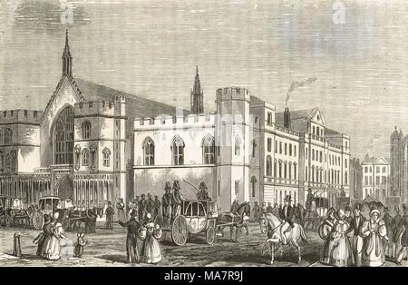 The Old House of lords and Commons, Pre fire of 1834 - Stock Photo
