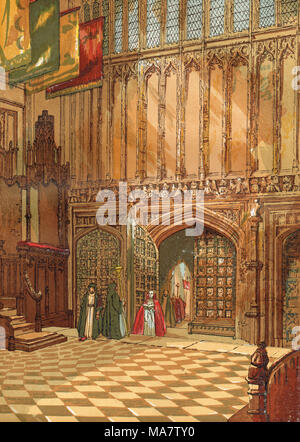 Henry VII Lady Chapel, Westminster Abbey, 19th century - Stock Photo