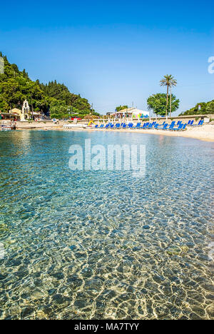 Palaiokastritsa bay at Corfu island in Greece - Stock Photo