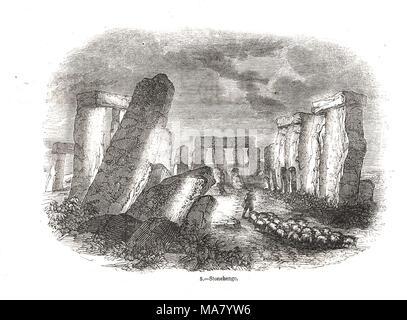 Stonehenge prehistoric monument, Wiltshire, England - Stock Photo