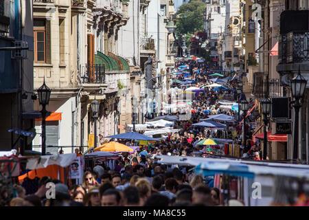 Feria de San Telmo, Sunday Market, Buenos Aires, Argentina - Stock Photo