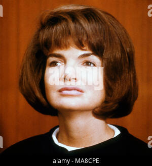 JACQUELINE KENNEDY ONASSIS (1929-1994) as wife of US President John F. Kennedy oil 1961 - Stock Photo