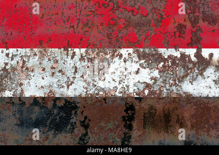 Old Yemen grunge background flag - Stock Photo