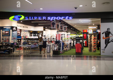 CHIANG MAI, THAILAND -MARCH 30 2018: Super Sport  Shop inside Central Festival Chiangmai. Photo in Central Festival chiang mai. - Stock Photo
