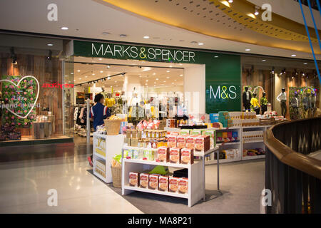 CHIANG MAI, THAILAND -MARCH 30 2018: Marks and Spencer shop. Shop  in Central Festival chiang mai. New Business Plaza of Chiangmai City. - Stock Photo