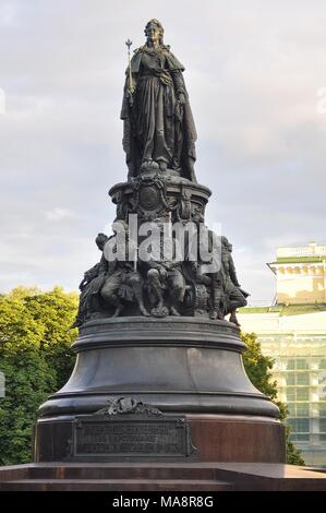 MONUMENT OF CATHERINE THE GREAT IN ST.PETERSBURG - Stock Photo