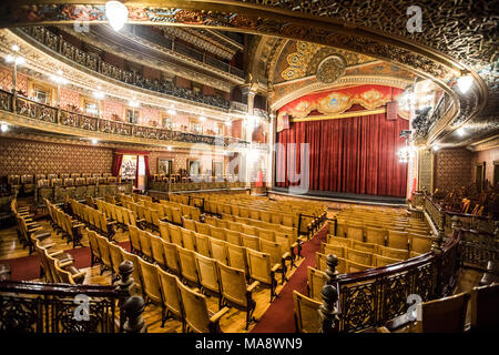 Inside historic Teatro Juarez, Zona Central, Guanajuato, Mexico - Stock Photo