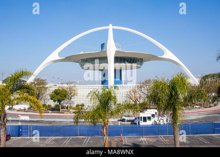 The Theme Building, Los Angeles International Airport, LAX, Los Angeles, CA - Stock Photo