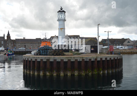 Harbour and inshore fishing fleet in Kirkwall, Mainland island, Orkney (Scotland) - Stock Photo