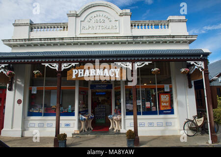 Old building in historic Arrowton, Otago, New Zealand - Stock Photo