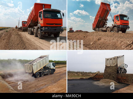 Set of truck - Stock Photo