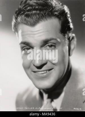 Actor Kent Taylor, Publicity Portrait, Paramount Pictures, 1933 - Stock Photo