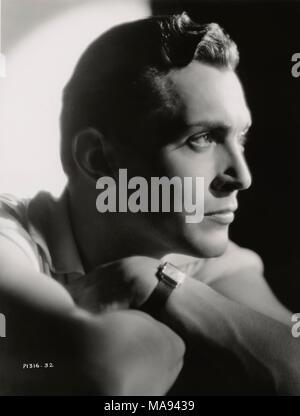 Kent Taylor, Publicity Portrait for the Film, 'A Lady's Profession', Paramount Pictures, 1933 - Stock Photo