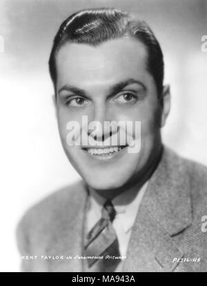 Kent Taylor, Publicity Portrait for the Film, 'Double Door', Paramount Pictures, 1934 - Stock Photo