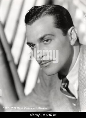 Actor Kent Taylor, Publicity Portrait, Paramount Pictures, 1930's - Stock Photo