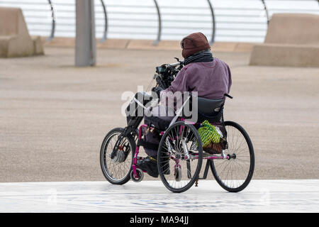 medical transport chair mobility scooter handicapped freedom disabled disability disable lifestyle mobility scooter invalid health - Stock Photo