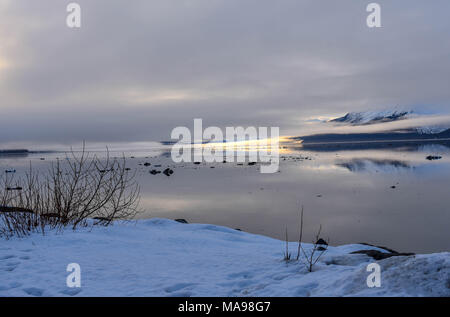 Sunrise Over Turnigan Arm, Alaska - Stock Photo