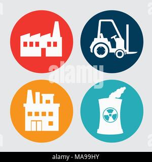 Factories and industries graphic design, vector illustration eps10 - Stock Photo