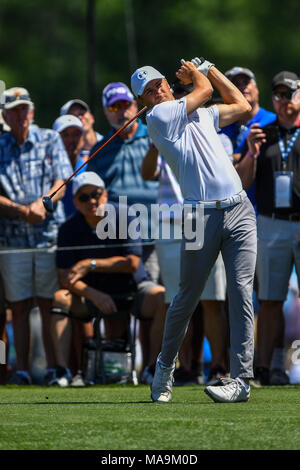 Humble, Texas, USA. 30th Mar, 2018. Jordan Spieth in action during the Houston Open at the Golf Club of Houston in Humble, Texas. Chris Brown/CSM/Alamy Live News