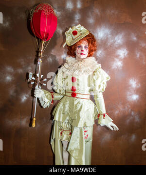 Manchester. 31st March 2018. Julia Scott Post apocalyptic time travellers meet up for a weekend at the asylum as the four day steampunk crossover convention gets under way at the Bowlers Exhibition Centre in Greater Manchester.  Credit: Cernan Elias/Alamy Live News - Stock Photo