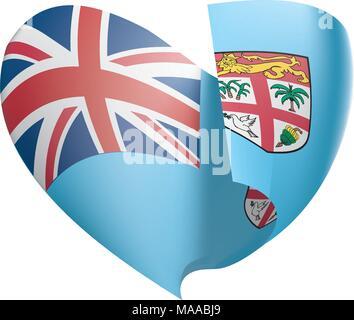 Fiji flag, vector illustration - Stock Photo