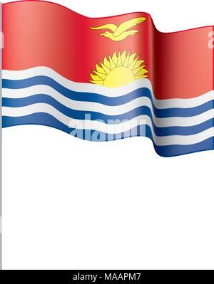 Kiribati flag, vector illustration - Stock Photo