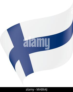 Finland flag, vector illustration - Stock Photo