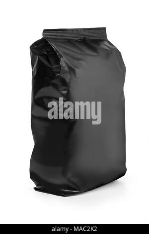 Black bag isolated on white background with clipping path - Stock Photo