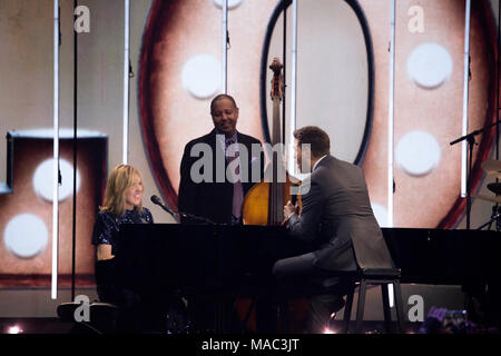 Vancouver, CANADA. 26th March, 2018. Diana Krall and Michael buble perform at the 2018 Juno Awards in Vancouver. Credit: Bobby Singh/fohphoto - Stock Photo