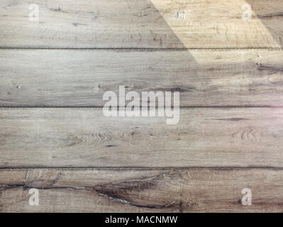 Texture of gray wood floor lit by sun - Stock Photo