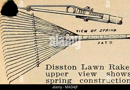 Rake, Disston Lawn  This tool, fitted with teeth made from