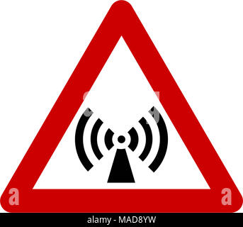 Warning sign with non-ionizing radiation symbol - Stock Photo