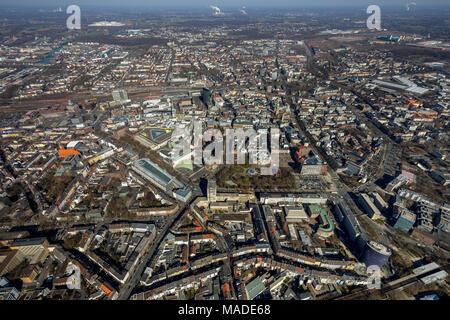 Downtown Dortmund, City Dortmund, Südring, city center, city ring, in Dortmund, Ruhr area, North Rhine-Westphalia, Germany, Dortmund, Ruhr area, North - Stock Photo