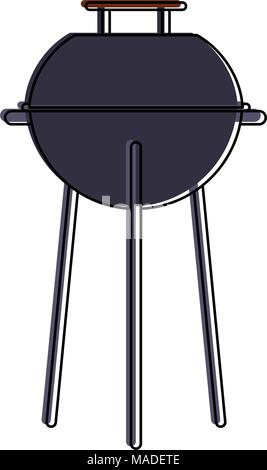 BBQ grill isolated - Stock Photo