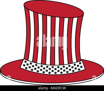 Uncle sam hat red icon - Stock Photo