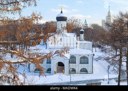 MOSCOW, RUSSIA, FEBRUARY 01, 2018: View on the Church of the Conception of Anna - Stock Photo