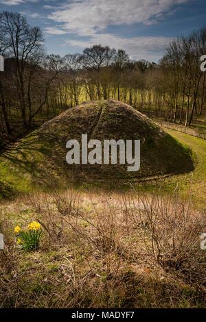 Bartlow Hills Romano British burial mounds in Cambridgeshire, UK - Stock Photo