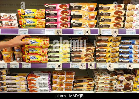 Various Desserts in a supermarket - Stock Photo