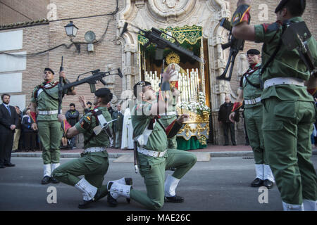 Alcala De Henares, Madrid, Spain. 29th Mar, 2018. From Monday 26 of march to Sunday 1 of April it´s celebrated the easter in Alcala de Henares, city World Heritage. Credit: Nacho Guadano/ZUMA Wire/Alamy Live News - Stock Photo