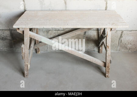 Wood construction for repair the premises at a height - Stock Photo